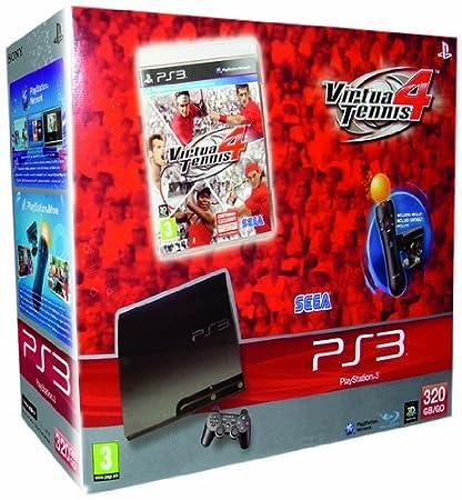 PlayStation 3 Consola 320 Gb y Virtua Tennis 4 y Starter Pack Move