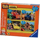 Ravensburger Bob the Builder 4 Jigsaw Puzzles in a Box (12, 16, 20 and 24 Pieces)by Ravensburger