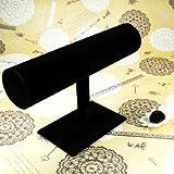 Schwarz-Schmuckständer,Armbandständer Display Velvet Shelf Jewelry Watch Bangle Display Tower Rack Stand