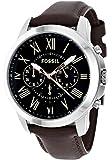 Fossil Herren-Armbanduhr Grant Analog Quarz Edelstahl beschichtet FS4813