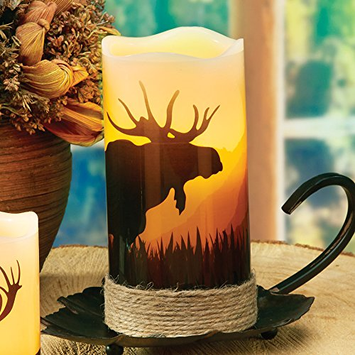 Moose LED Candle - Rustic Decor (Moose Kitchen Decor compare prices)
