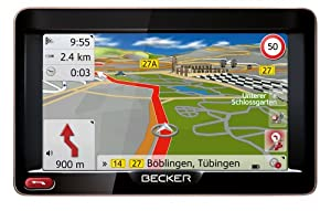 "BECKER Ready 50 SE LMU Sat Nav, 12.7 cm (5"") Display, Europe Maps (45 Countries), Lifetime Map Updates, SituationScan, Lane Assist Pro 3D, Learning Navigation, Black/Mocca-Metallic"