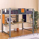Powell Furniture Teen Trends Full Loft Study Bunk Bed Set