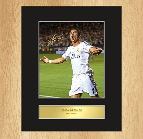 My Prints - Stampa con autografo originale di Cristiano Ronaldo, giocatore del Real Madrid FC
