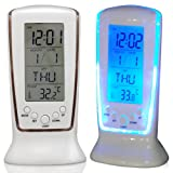 TRIXES LCD Digital Alarm clock calendar thermometer LED Backlight