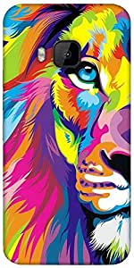 Snoogg Lion Paint Designer Protective Back Case Cover For HTC M9