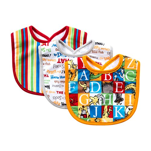 Trend Lab Dr. Seuss Alphabet Seuss Bib Set, 3 Count - 1
