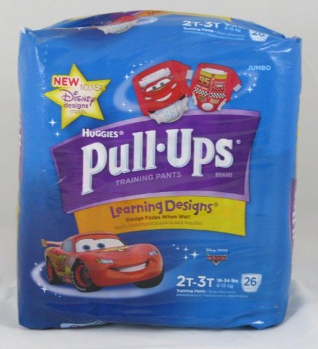 Huggies Pull-ups Learning Designs Training Pants 2t-3t Boy, Cars, 26 Pcs - 1