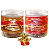 Chocholik Dry Fruits - Almonds Jamaican Jerk & Tangy Tomato With Small Ganesha Idol - Diwali Gifts - 2 Combo Pack