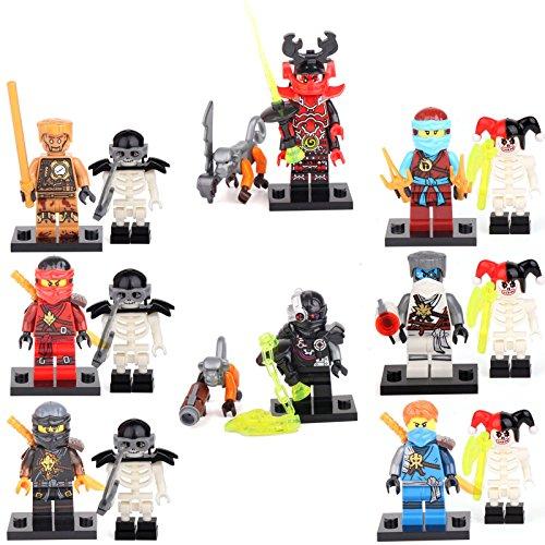 16-minifigures-ninja-ninjago-jay-cole-kai-zane-nya-garmadon-building-bricks-lego