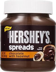 Hersheys Spreads Chocolate With Hazelnut, 13-ounce jar