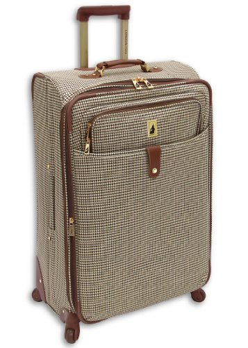 London Fog Chelsea 29 Inch 360 Expandable Upright Suiter, Olive Plaid, One Size top deals