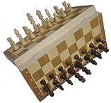 Amateras 木製 チェス アンティーク チェスセット 折り畳み マグネット チェス盤 木製 磁気性 高級感 初心者 中級 上級 頭の体操 持運び 便利 (24×24 cm (普通サイズ))