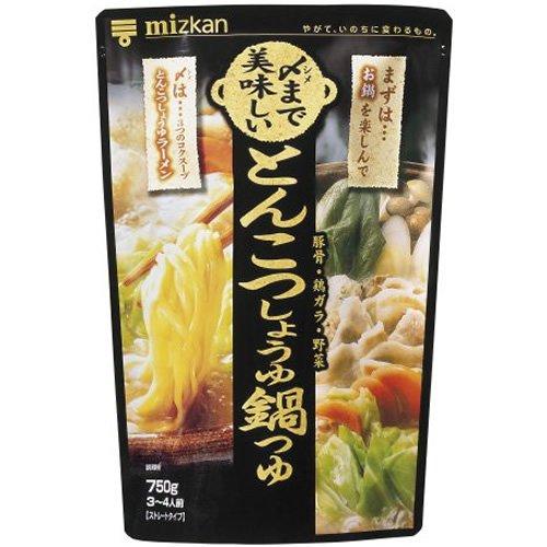 ミツカン 〆まで美味しい とんこつしょうゆ鍋つゆストレート 750g×12個