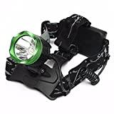 (11292-i) XM-L T6 LED HEADLAMP HEADLIGHT FLASHLIGHT TORCH LAMP GREEN