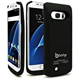 Galaxy S7 Edge Battery case, Bastex Rechargeable High Capacity Battery Charging Power,Hard Black Plastic Protective Shell, 4200mAh, Slim-Fit Rugged Design with kickstand for Samsung Galaxy S7 Edge.