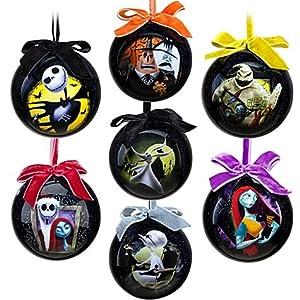 #!Cheap Tim Burton's The Nightmare Before Christmas Ornament Set -- 7-Pc. Set- 2011 Disney Item No. 6434046651953P