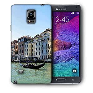Snoogg White Houses Printed Protective Phone Back Case Cover For Samsung Galaxy NOTE 4 / NOTE IIII