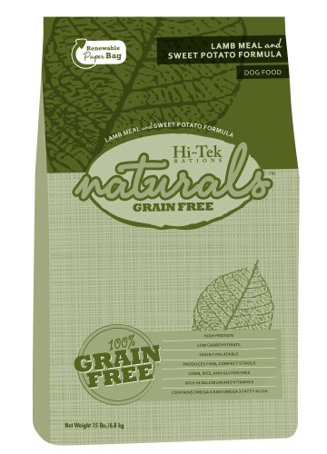 Hi-Tek Naturals Grain Free Lamb Meal and Sweet Potato Formula Dry Dog Food, 15 Pounds