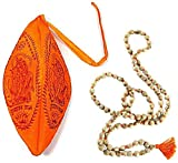 HARE KRISHNA MANTRA MEDITATION SET ~ Tulsi 108 Japa Mala Prayer Beads w/ Chanting Bag