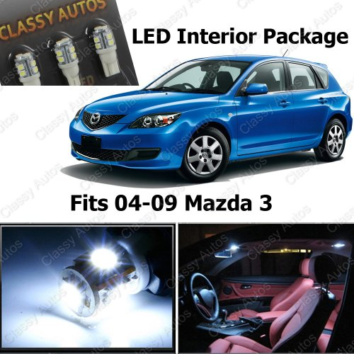 White Led Lights Interior Package Deal Mazda 3 Ms3 (6 Pieces)