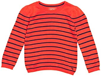 ESPRIT - Pull - Fille - Rouge (844 Pumpkin ) - FR : 6 ans (Taille fabricant : 116/122)