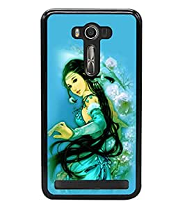 printtech Beautiful Anime Chinese Girl Back Case Cover for Asus Zenfone 2 Laser ZE550KL ,Asus Zenfone 2 Laser ZE550KL (5.5 Inches)