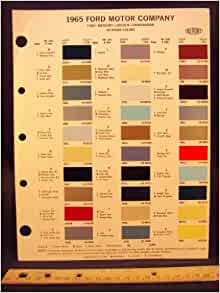 1965 ford motor company paint colors chip page ford motor. Black Bedroom Furniture Sets. Home Design Ideas