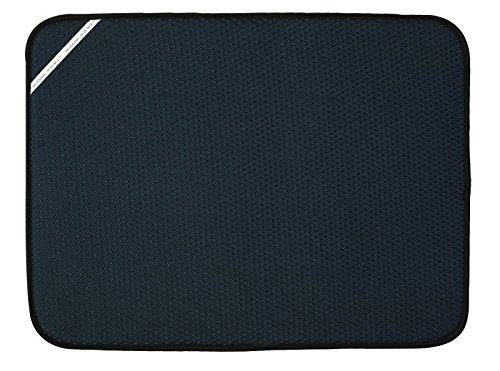 Envision Home Dish Drying Mat - 18 × 24 - Black (XL)