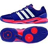 Adidas Men's Adipower Stabil 11 Indoor Shoe-Amazon Purple/White/Solar Red