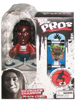 Tech Deck Pro Skater Action Figure with Skateboard Shuriken Shannon Black Label - 1