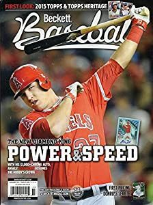 Current Beckett Baseball Monthly Magazine Price Guide Values November 2014 The New Diamond King Mike Trout Cover 074470957904