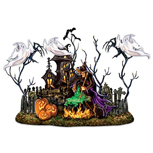 Dona Gelsinger Halloween Light Up Sculpture With Music And Shadow Casting Ghosts by The Bradford Exchange