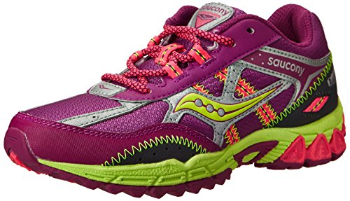 Saucony Girls Excursion Running Shoe ,Berry/Silver/Citron,11