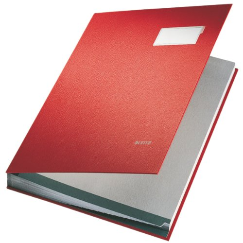 Leitz Signature Book 20 Compartments Durable Blotting Card 340x240mm Red Ref 5700-00-25