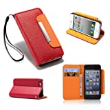 32nd® Stand Book leather case cover for Samsung Galaxy S2 Sii i9100 + screen protector, cleaning cloth and touch stylus - Red
