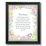 Motivational Poem True Success Home Decor Wall Picture Black Framed Art Print