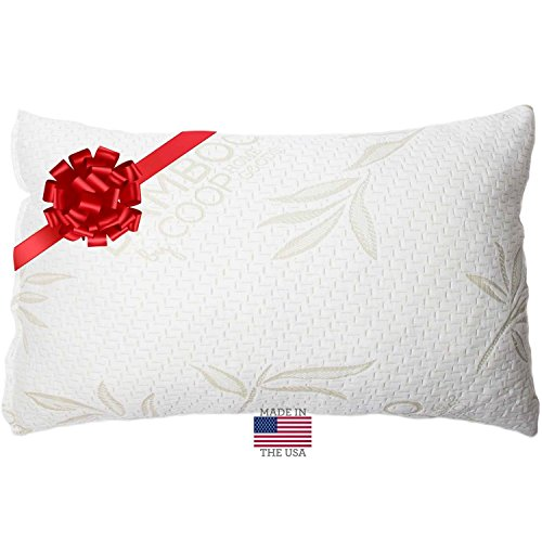 Shredded Memory Foam Pillow with Bamboo Cover – Coop Home Goods – Made in USA – QUEEN