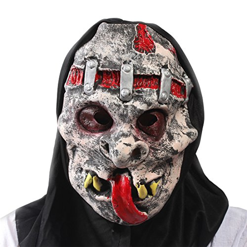 Halloween Masquerade Party Costume Cosplay Grimace Rotten Ghost Scary Full Face Mask