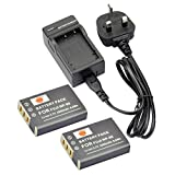 DSTE® 2pcs NP-95 Rechargeable Li-ion Battery + Charger DC29U for Fujifilm FinePix F30, FinePix F31fd, FinePix Real 3D W1, FinePix X100, FinePix X100LE, FinePix X100S, X-S1 and Compatible with RICOH DB-90, GXR, GXR Mount A12, GXR P10