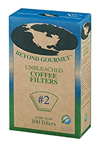 Beyond Gourmet Unbleached Coffee Filter - 100 per pack -- 6 packs per case.