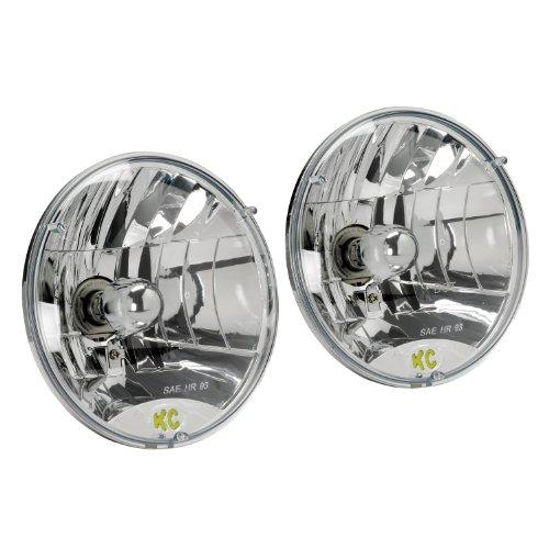 "Kc Hilites 42301 7"" Round 60/55W H4 Dot Headlight - Set Of 2"