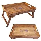 LS Design Holz Betttablett Tablett Knietablett Frühstückstablett klappbar Shabby