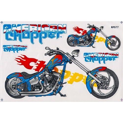 Moto Big Bike American Chopper Motor Cycle Logo Decal Stickers Decals
