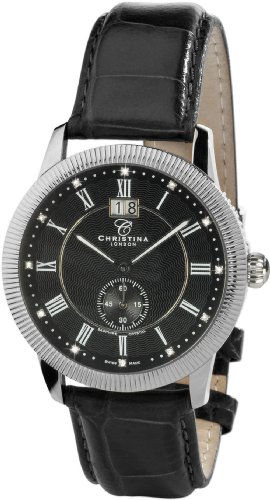 Christina Design London Stainless Steel Gents 12 Diamond Strap Watch