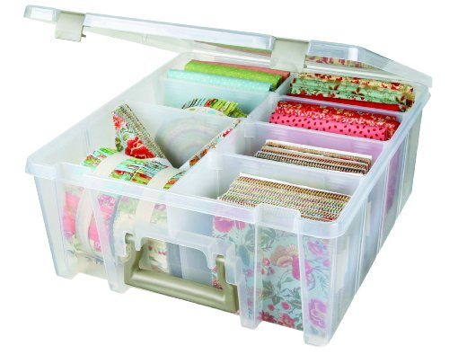 ArtBin Super Satchel Double Deep with Removable Dividers:  Clear Art Craft Storage Box,6990AB (Craft Storage Bins compare prices)