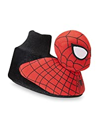 Marvel Toddler Boy's Spider-Man 2 Red/Black Sock-Top Slippers