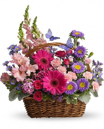 Birthday Flowers – Country Basket Blooms (Better)
