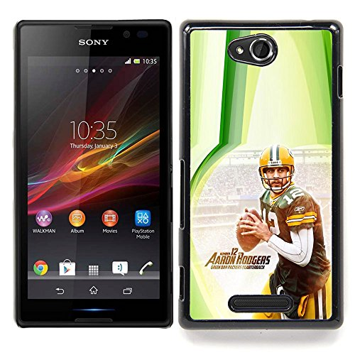 - Aaron Rodger 12 NFL - - Copertura della cassa impatto con Art Pattern Design FOR Sony Xperia C S39h C2305 Queen Pattern