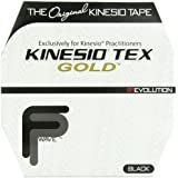 Kinesio Tex Gold Water Resistant Tape, Black, 2 Inches X 103.3 Feet